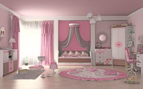 "Детская комната для девочки ""Mon coure"""